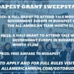 Win Free Tuition to attend Yale Model Government in Budapest!