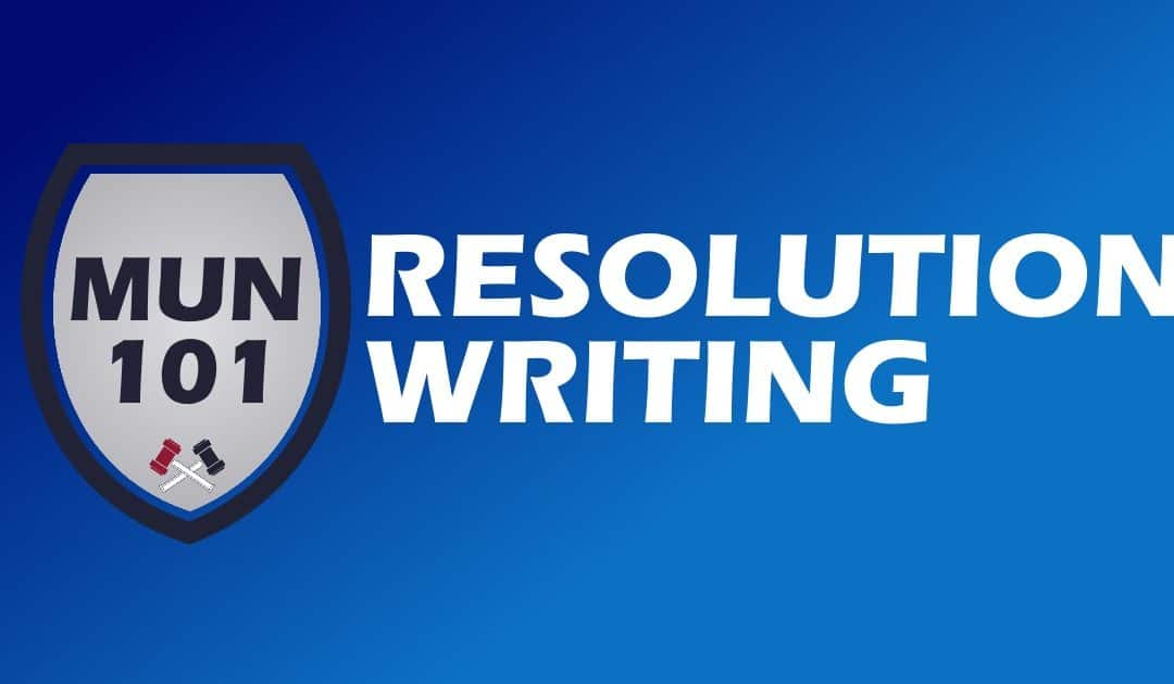 How to Write a Model UN Resolution